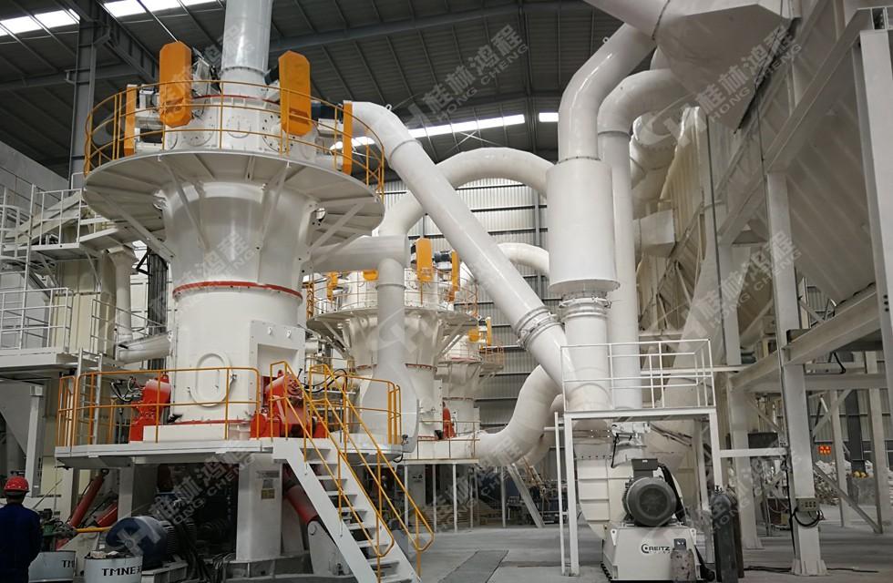 滑石超细磨粉机节能磨粉机HLMX超细立磨一次性成品率高