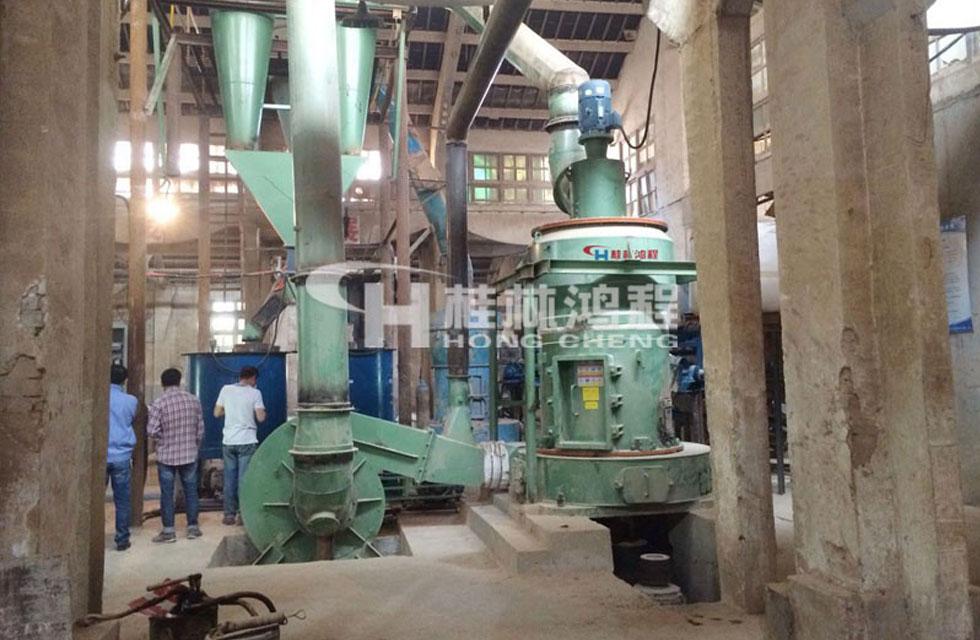 湖北某集团年产15万吨电厂脱硫石灰石粉磨机