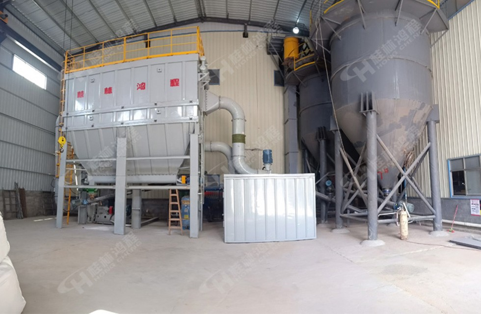 萤石粉设备超细磨粉机HCH980环辊超细磨粉机湖南某厂开
